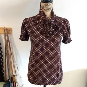Charlotte Russe Fall Houndstooth Blouse, Small